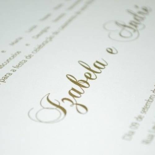 Como será o convite do seu casamento?