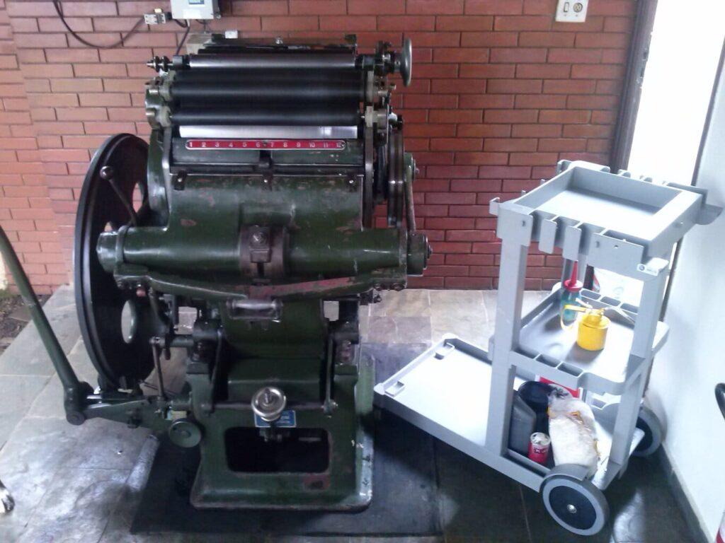 equipamento tipográfico